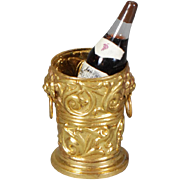 Dollhouse Ormolu Champagne, or Wine, Cooler