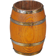 Wooden Barrel for Dollhouse Kitchen, or German Shop