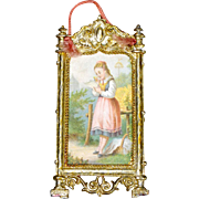 Dollhouse Picture in Gilt Wash Frame
