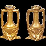 Pair of Ormolu Vases in the Art Nouveau Taste