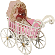 German Dollhouse Baby Buggy