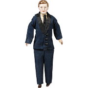 Handsome 1920s Dollhouse Gentleman Doll