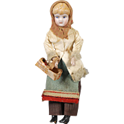 German Bisque Dollhouse Young Lady Doll