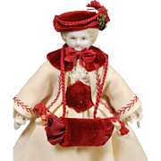 1860s German Parian Dollhouse Doll