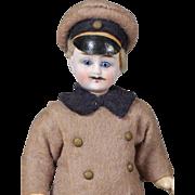 German Bisque Chauffeur Dollhouse Doll