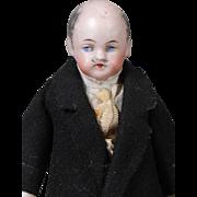 German Bisque Gentleman Dollhouse Doll