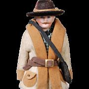 German Bisque Dollhouse Gentleman Photographer