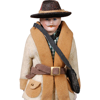 German Bisque Dollhouse Gentleman Photographer