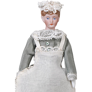 German Bisque Dollhouse Maid