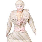 German Bisque Dollhouse Lady