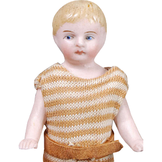 German Bisque Boy Dollhouse Doll