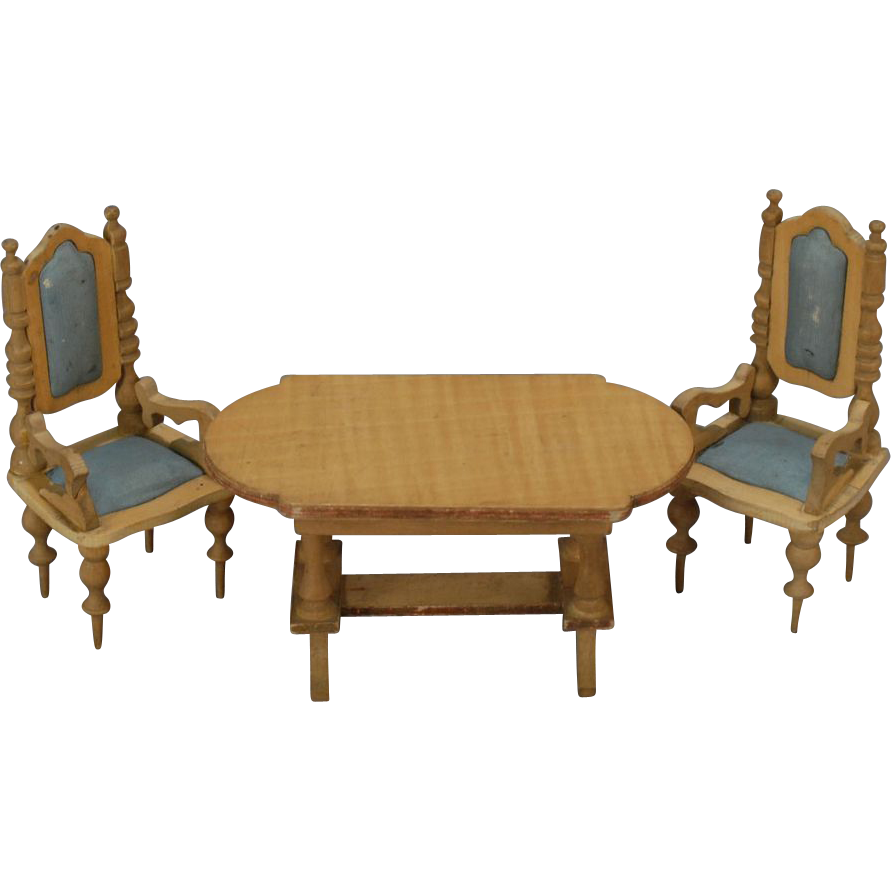 Three Piece Dollhouse Parlor Furniture Set From