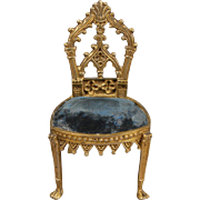 Gilt Bronze Side Chair in the Gothic Taste
