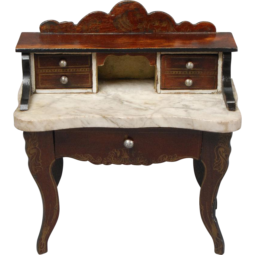unusual biedermeier ladies writing desk from