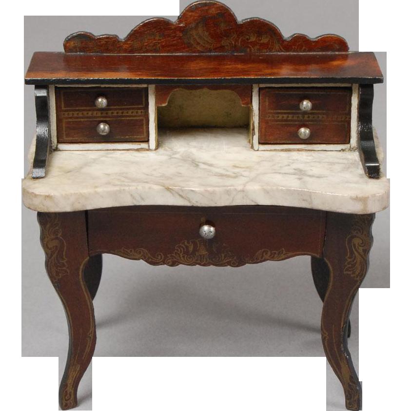 Unusual biedermeier ladies writing desk from for Unusual writing desks