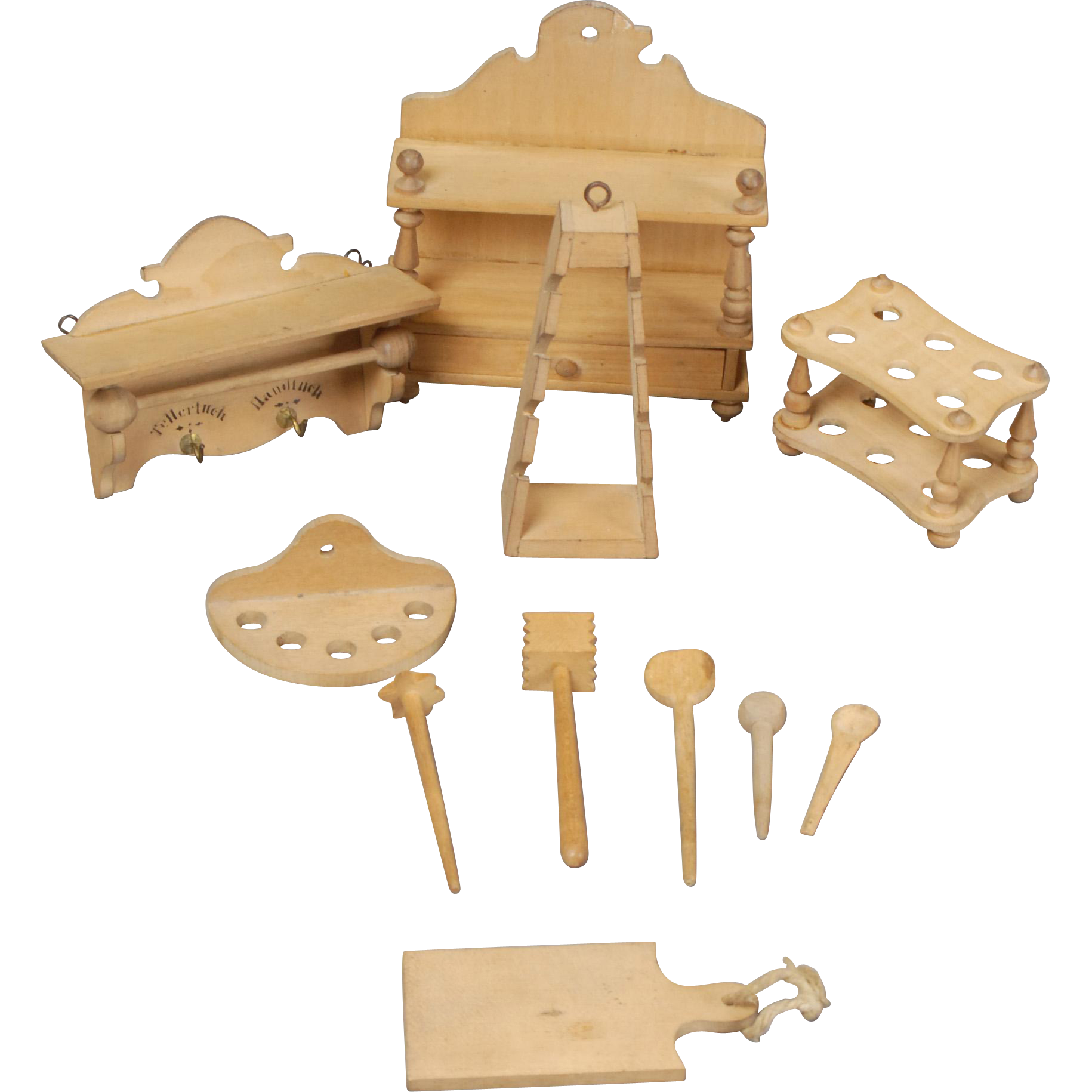 Carmel Kitchen Expansion: Wooden Accessories For Larger-scale Dollhouse Kitchen From