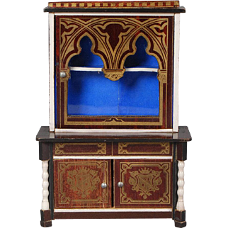 Unusual Biedermeier Dollhouse Bookcase