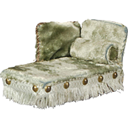 Plush Velvet Dollhouse Chaise Lounge