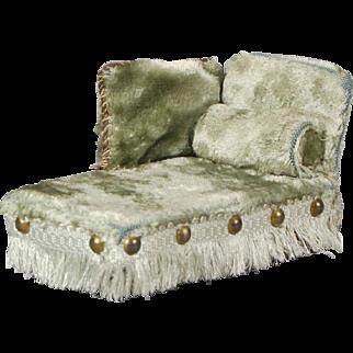 Plush Velvet Dollhouse Chaise Lounge
