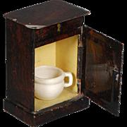 Rock & Graner Bedside Table in Stamped Tin