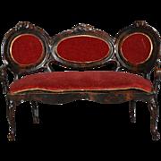 Rococo Rock & Graner Sofa in Cast Metal