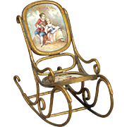 "Viennese Enamel ""Bentwood"" Rocking Chair"