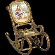"Viennese Enamel ""Bentwood"" Rocking Chair"