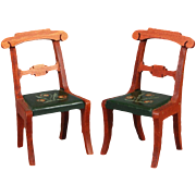 Pair of Tynietoy Side-chairs in the Empire Style