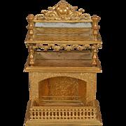 Erhard & Söhne Ormolu Dollhouse Fireplace