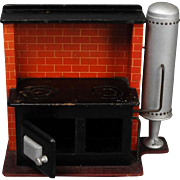 German Wood Dollhouse Kitchen Range