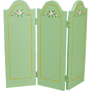 Three-panel Folding Dollhouse Screen