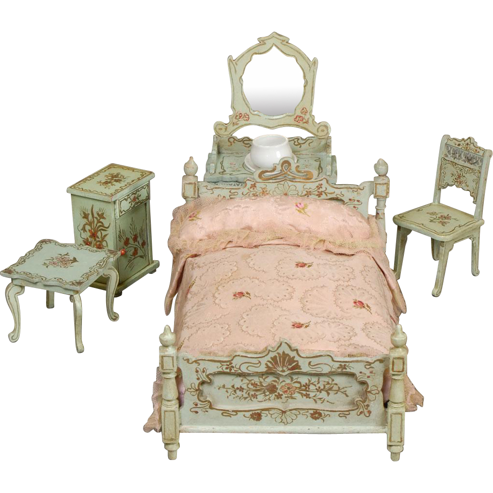 Paul Leonhardt Dollhouse Bedroom Furniture From