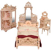 Paul Leonhardt Suite of Dollhouse Bedroom Furniture