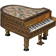 Austrian Piano Music Box Dollhouse Size