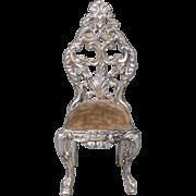 Cast White Metal Sidechair