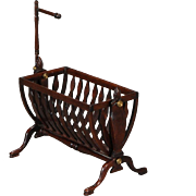 Artist-created Miniature Swinging Cradle