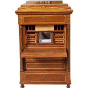 Artist-created Miniature Biedermeier Drop-front Secretaire