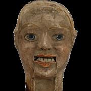 British Papier-mache Ventriloquist Dummy Head