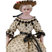 """14 1/2"""" Early English Poured Wax Doll"""