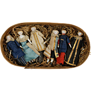 Troupe of Six, Bisque, Shoulderhead Theater Dolls