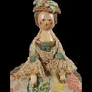 "15 1/2"" Georgian Wooden Doll Circa 1780-90"