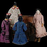 German China Doll with Wardrobe of Clothing
