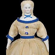 "13 1/4"" German Parian Shoulderhead Doll"