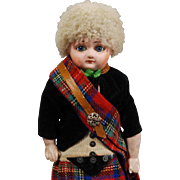 German Schilling Papier-mache Scottish Boy Doll