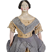 German Papier-mache Doll Circa 1850