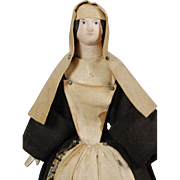 German Papier-mache Pin Cushion Nun Doll