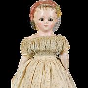 German Wax-over Papier-mâché Doll