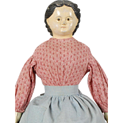 "German ""M & S Superior"" Papier-mache Shoulderhead Doll"
