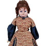 German Wax-over Papier-mâché Doll