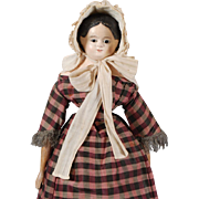 German Greiner-type Papier-mache Shoulderhead DOll